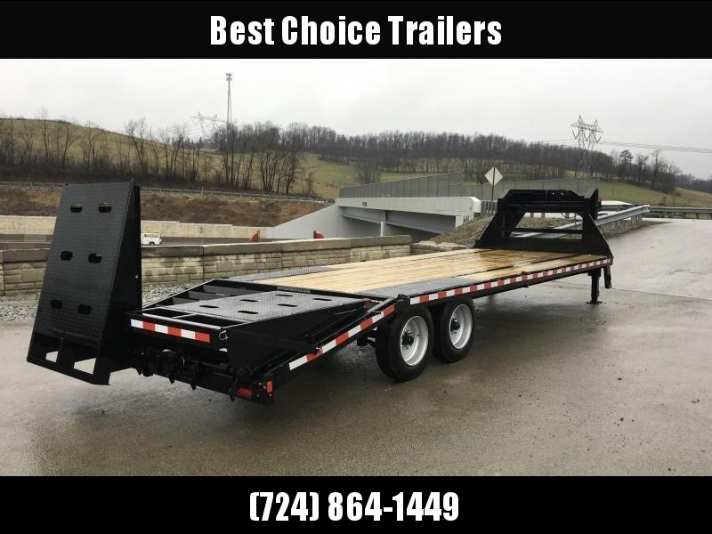 "2020 Sure-Trac 102x30' Gooseneck Beavertail Deckover Trailer 17600# GVW * 8000# AXLES * 17.5"" 16-PLY TIRES * 3 3/8"" BRAKES * DUAL JACKS * FULL TOOLBOX * FULL WIDTH RAMPS (STAND UP OR FLIPOVER) * 12"" I-BEAM * PIERCED FRAME * (10) 1"" D-RINGS * CROSS TRAC"