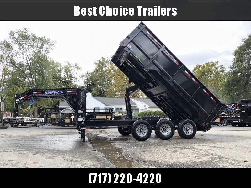 "2019 Load Trail 7x16' Gooseneck High Side Dump Trailer 21000# GVW * 3' HIGH SIDES * DUAL 12K JACKS * TELESCOPIC HOIST * 3-WAY GATE * I-BEAM FRAME * TARP KIT * 6"" TUBE BED FRAME * 10GA SIDES/FLOOR * INTEGRATED KEYWAY * POWDER PRIMER * DEXTER'S"
