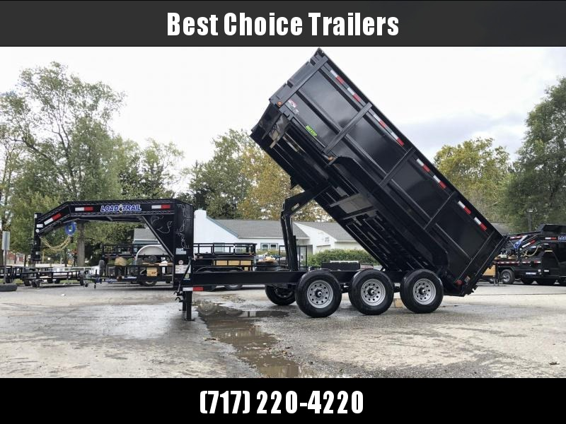 "2020 Load Trail 7x16' Gooseneck Dump Trailer 21000# GVW * GD8316073 * 3' HIGH SIDES * 8"" I-BEAM FRAME * 12K JACKS * 3-WAY GATE * TARP KIT * TELESCOPIC HOIST * 10GA 2PC SIDES & FLOOR * 6"" TUBE BED FRAME * DEXTER'S"