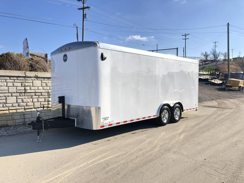 2020 Wells Cargo 8.5x20' RoadForce Enclosed Car Trailer 12000# GVW * WHITE * RAMP DOOR * ROUND TOP * SCREWLESS * 6000# AXLES * 7' HEIGHT