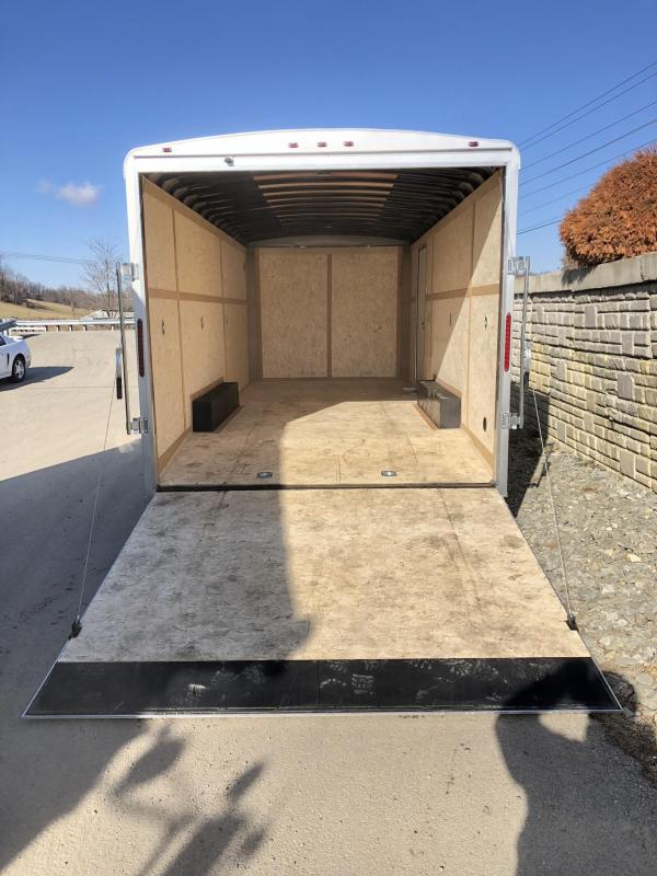 2020 Wells Cargo 8.5x20' RoadForce Enclosed Car Trailer 12000# GVW * WHITE * RAMP DOOR * ROUND TOP * SCREWLESS * 6000# AXLES * 7' HEIGHT