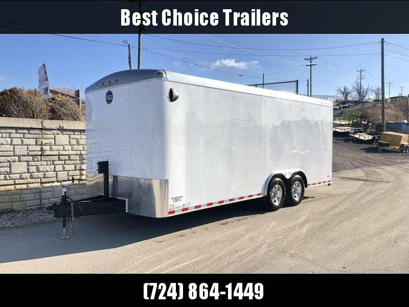 """2020 Wells Cargo 8.5x20' Road Force Enclosed Car Trailer 12000# GVW * SILVER EXTERIOR * RAMP DOOR * ROUND TOP * DEXTER 6000# TORSION AXLES * SCREWLESS .030 EXTERIOR * 6'6"""" HEIGHT * TUBE STUDS * 1 PC ROOF * 16"""" O.C. WALLS/FLOOR * RV DOOR * ARMOR GUARD"""