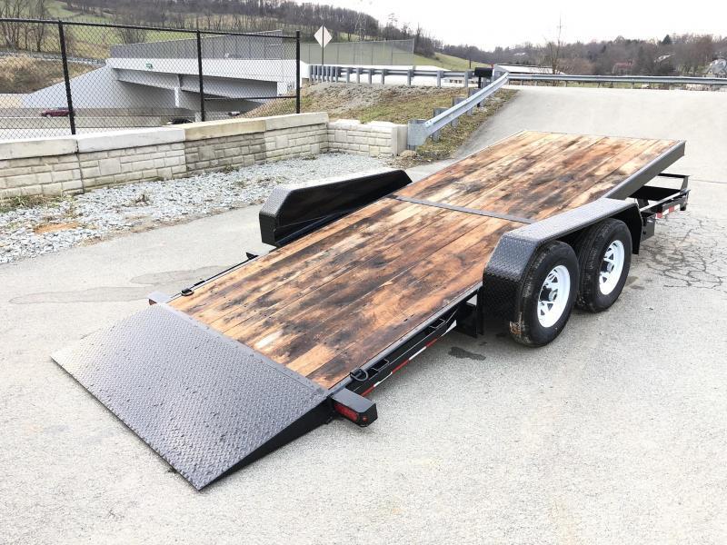 2019 Sure-Trac 7x18 Tilt Bed Equipment Trailer 9900# GVW * OAK DECK * CLEARANCE