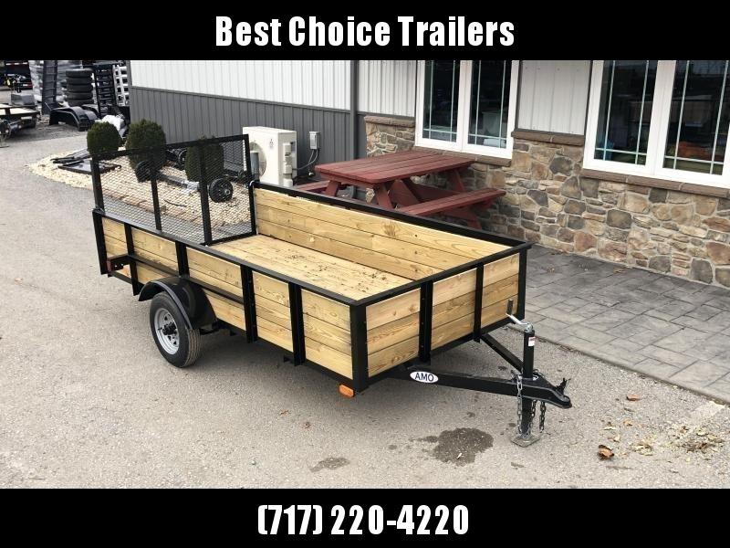 2020 AMO 5x8' Wood High Side Angle Iron Utility Landscape Trailer 2200# GVW