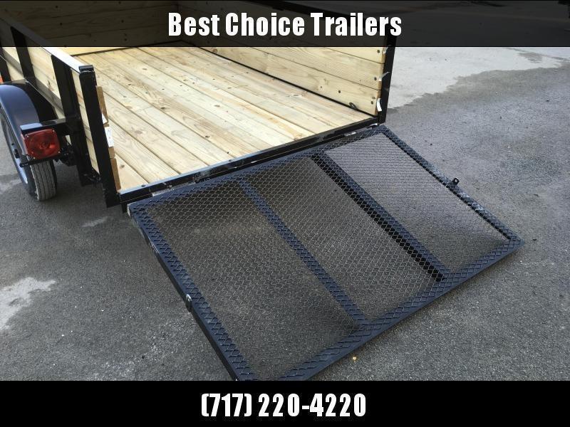 """2020 AMO 5x8' Wood High Side Angle Iron Utility Landscape Trailer 2200# GVW * 3-BOARD HIGH SIDE * GATE * A-FRAME TONGUE * A-FRAME JACK * 2"""" BALL"""