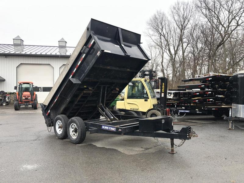 USED 2016 Sure Trac 7x12' Dump Trailer 12000# GVW * TARP KIT * SCISSOR HOIST * SIDE EXTENSIONS