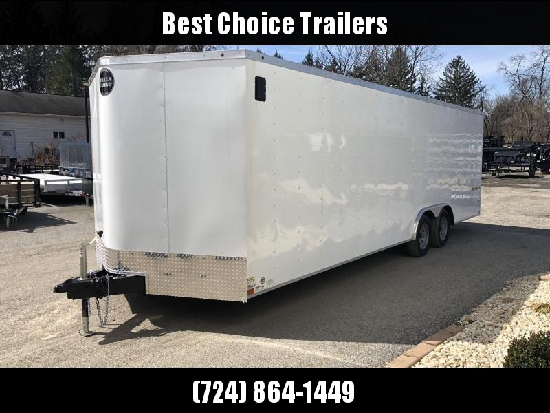 2019 Wells Cargo 8.5x24' Fastrac Enclosed Car Trailer 7000# GVW * WHITE EXTERIOR * RAMP DOOR * CLEARANCE