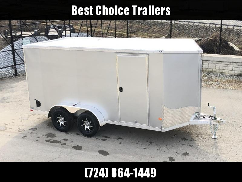 2020 Neo 7x14' NAVF Aluminum Enclosed Cargo Trailer * RAMP DOOR * SILVER * ALUMINUM WHEELS