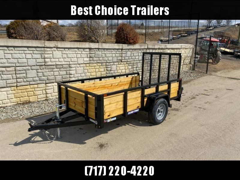 """2020 Sure-Trac 5x8' High Side Utility Landscape Trailer 2990# GVW * 24"""" 3-BOARD HIGH SIDE * 2"""" TUBE TOP RAIL * 2X2"""" TUBE GATE C/M + SPRING ASSIST + FOLD FLAT * TOOLESS GATE REMOVAL * SPARE MOUNT * PROTECTED WIRING * SET BACK JACK * TRIPLE TUBE TONGUE * D-"""