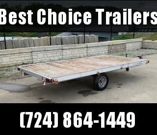"""USED 2002 Triton 80"""" x 154"""" 3-Place ATV Trailer Quad Hauler * CLEARANCE"""