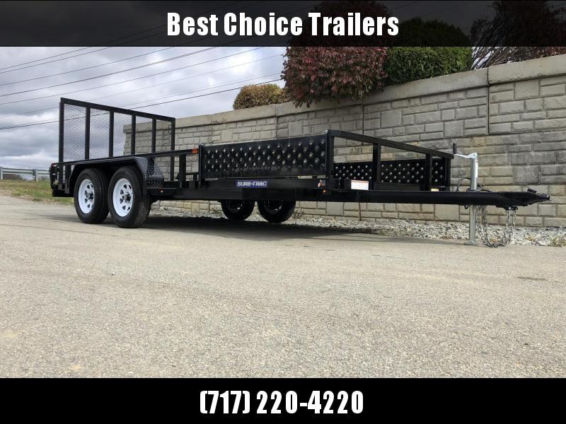 2020 Sure-Trac 7x16' Tube Top ATV Side Ramps Utility Landscape Trailer 7000# GVW