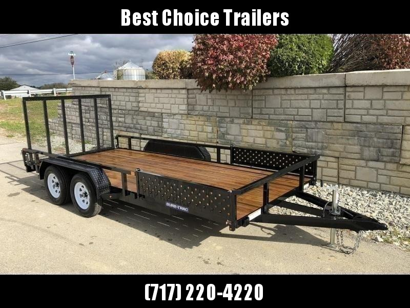 2020 Sure-Trac 7x16' Tube Top ATV Side Ramps Utility Landscape Trailer 7000# GVW