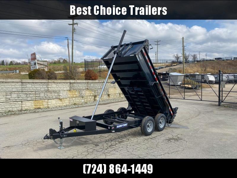 "2020 Sure-Trac 6x12' Dump Trailer 9900# GVW * TELESCOPIC HOIST UPGRADE * ADJUSTABLE COUPLER * UNDERMOUNT RAMPS * COMBO GATE * 7K DROP LEG JACK * FRONT/REAR BULKHEAD * INTEGRATED KEYWAY * SPARE MOUNT * HD FENDERS * 4"" TUBE BEDFRAME"