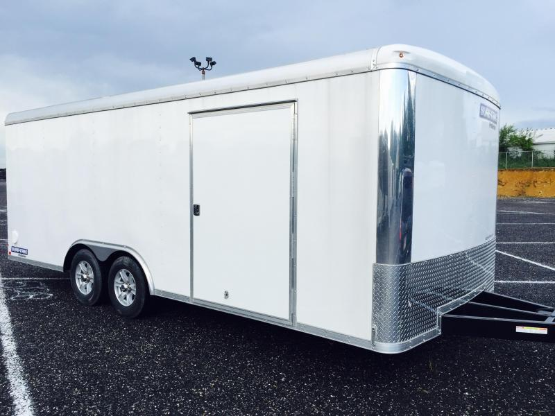 2019 Sure-Trac 8.5x24 Round Top Car Hauler 9900# GVW WHITE * CLEARANCE