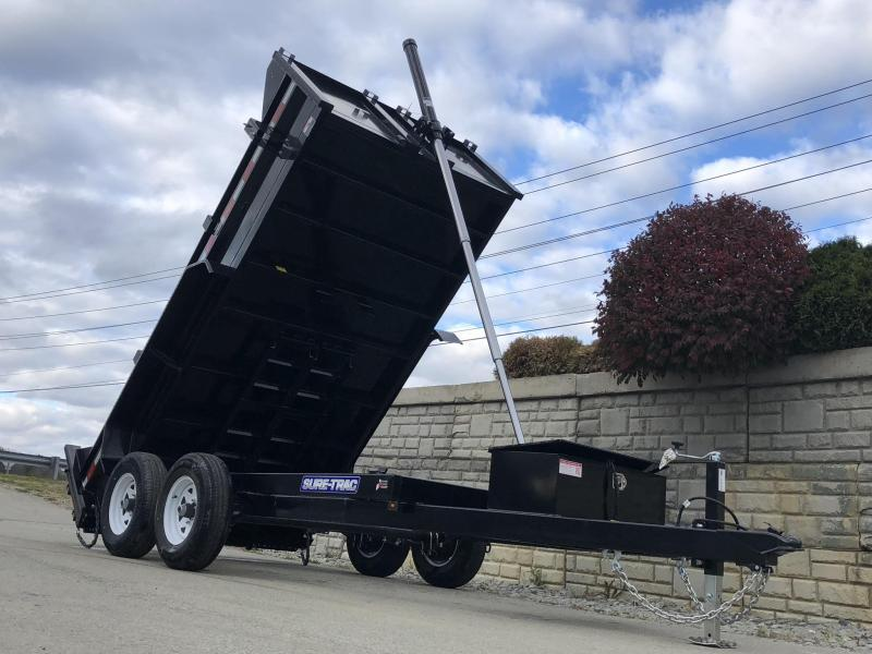 2020 Sure-Trac 6x10' Dump Trailer 9900# GVW * TELESCOPIC HOIST UPGRADE * ADJUSTABLE COUPLER