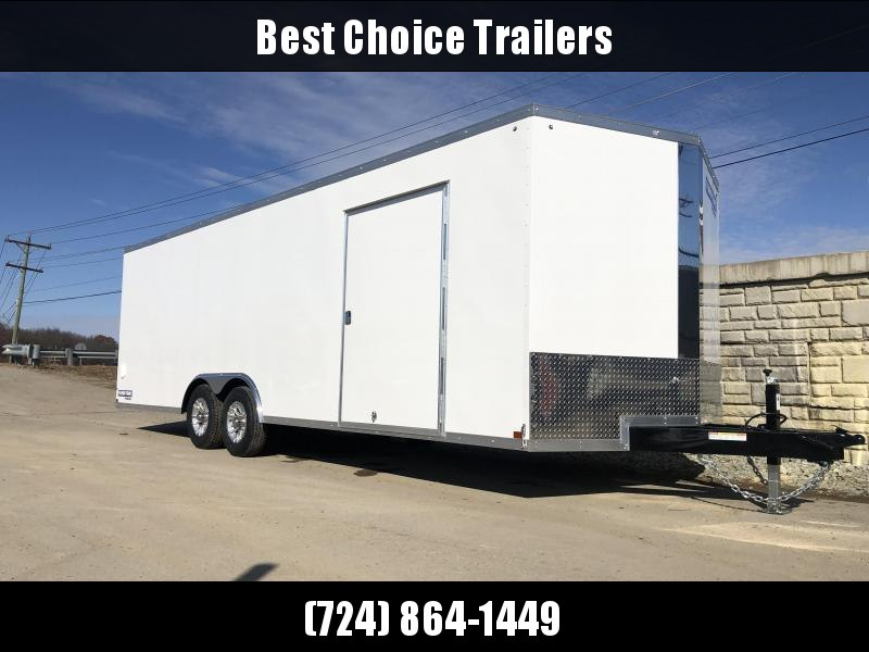 2020 Sure-Trac 8.5x24' Enclosed Car Trailer 9900# GVW * WHITE * 7K DROP LEG JACK