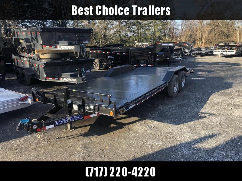 "2020 Load Trail 102x22 Steel Deck Car Hauler Trailer 14000# GVW * D-RINGS * RUBRAIL * SPARE MOUNT * 12K JACK * 16"" O.C.'S * 2-3-2 WARRANTY * DEXTER'S * PRIMER"