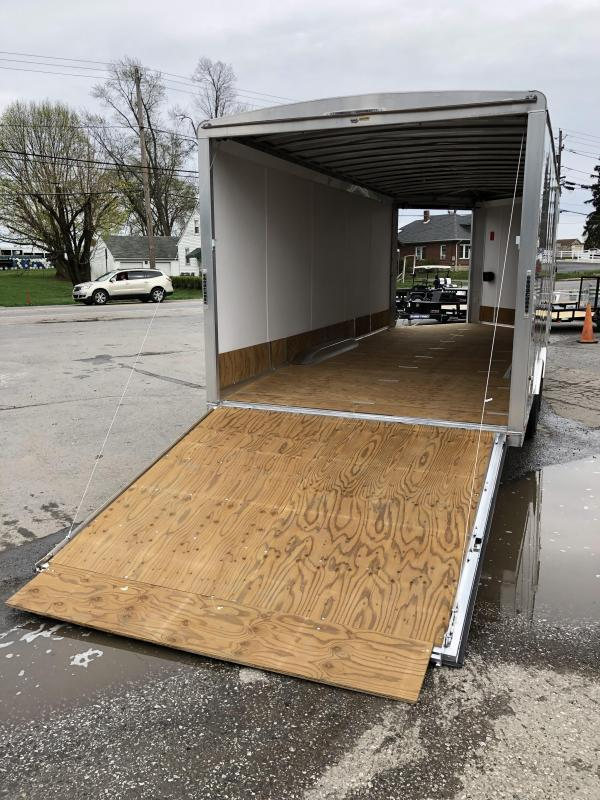 2020 NEO 8.5x22' NMS Aluminum Round Top Enclosed All Sport Car Hauler Trailer 7000# GVW * NMS2285 * DEXTER TORSION AXLES * FINISHED WALLS * FRONT RAMP * ALUMINUM WHEELS