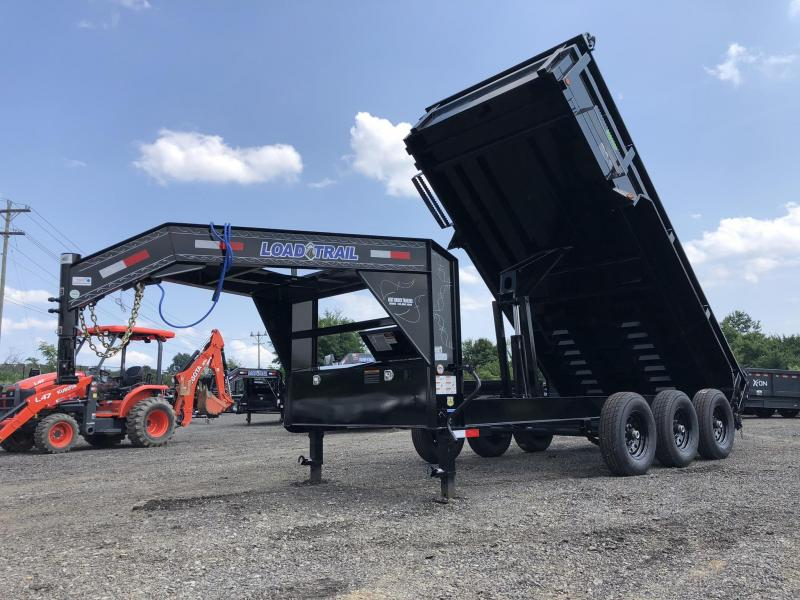 "2019 Load Trail 7x16' Gooseneck Dump Trailer 21000# GVW * GD8312072 * 8"" I-BEAM FRAME * 12K JACKS * 3-WAY GATE * TARP KIT * OVERSIZE 6X21"" SCISSOR HOIST * 10GA 2PC SIDES & FLOOR * 6"" TUBE BED FRAME * 110V CHARGER * DEXTER'S * 2-3-2 * POWDER PRIMER"