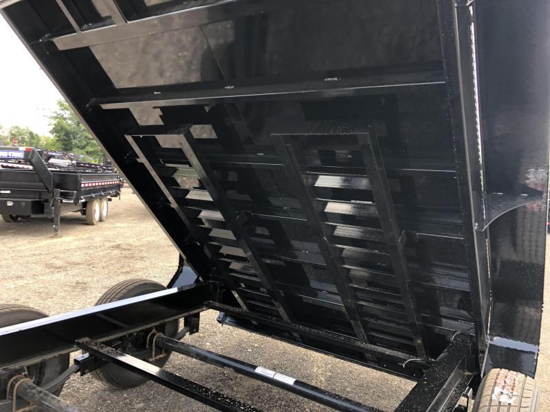 """2019 Load Trail 7x16' Gooseneck Dump Trailer 21000# GVW * GD8312072 * 8"""" I-BEAM FRAME * 12K JACKS * 3-WAY GATE * TARP KIT * OVERSIZE 6X21"""" SCISSOR HOIST * 10GA 2PC SIDES & FLOOR * 6"""" TUBE BED FRAME * 110V CHARGER * DEXTER'S * 2-3-2 * POWDER PRIMER"""