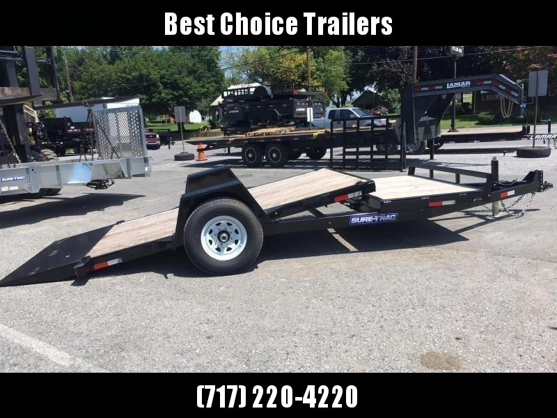 2019 Sure-Trac 78x12+4' Cushion Tilt Equipment Trailer Scissor Hauler 7800# GVW * OAK DECK * TUBE FRAME * EXTENDED TONGUE * ADJUSTABLE CAST COUPLER * DROP LEG JACK * TORSION AXLE * RUBRAIL/STAKE POCKETS/D-RINGS * CLEARANCE