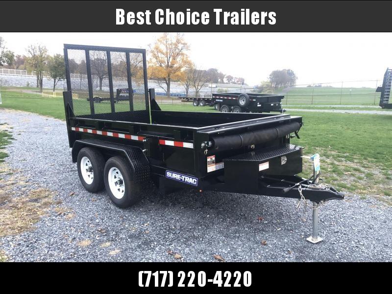 USED 2019 Sure-Trac 5x10' Dump Trailer 7000# GVW * LANDSCAPE GATE * SPARE TIRE * DELUXE TARP KIT