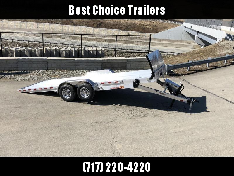 "2020 H&H 7x22' Deluxe Aluminum Power Tilt Car Hauler Trailer 14000# GVW * TORSION AXLES * ROCK GUARD * EXTRUDED FLOOR * SWIVEL D-RINGS * EXTRA STAKE POCKETS * DUAL TOOLBOXES * WINCH PLATE * WIRELESS * HD 8"" FRAME W/ UNDERFRAME BRIDGE * 4"" CHANNEL C/M"