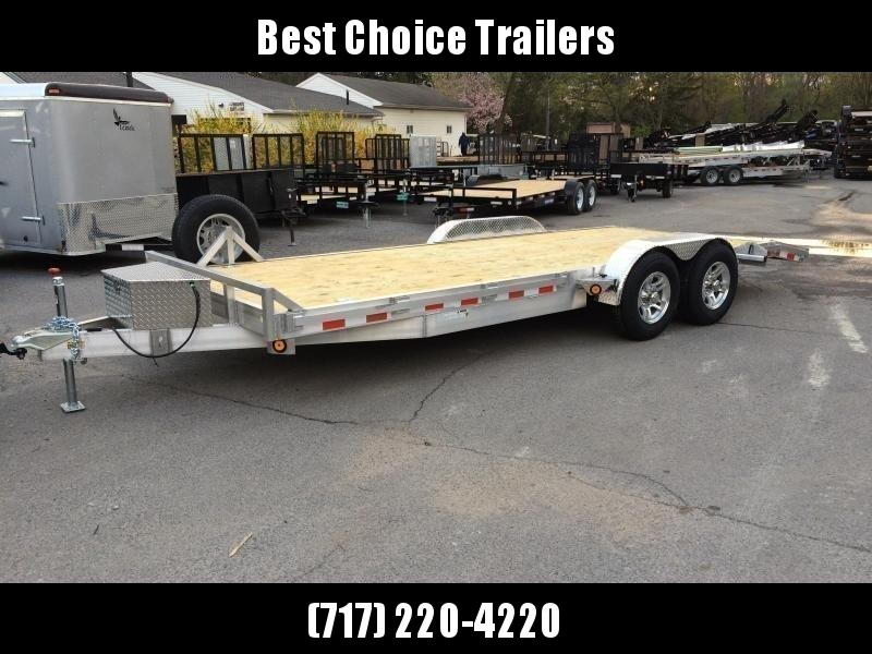 Best Cargo Trailers 2020 2020 QSA 7x20' Aluminum Car Trailer 9850# GVW | Best Choice
