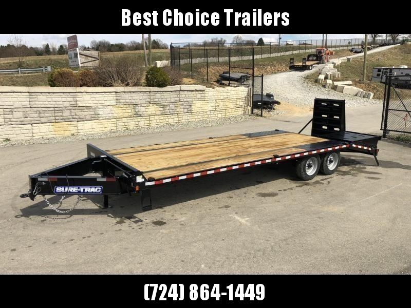 "2020 Sure-Trac 102""x20+5' LowPro Beavertail Deckover Trailer 22500# GVW * PIERCED FRAME * FULL WIDTH RAMPS * 12"" I-BEAM"