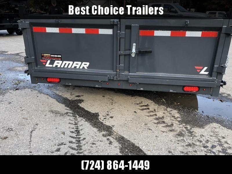 2020 Lamar 7x16' Dump Trailer 16000# GVW * 8K AXLE UPGRADE * TARP * RAMPS * DUAL 12K JACKS * 17.5