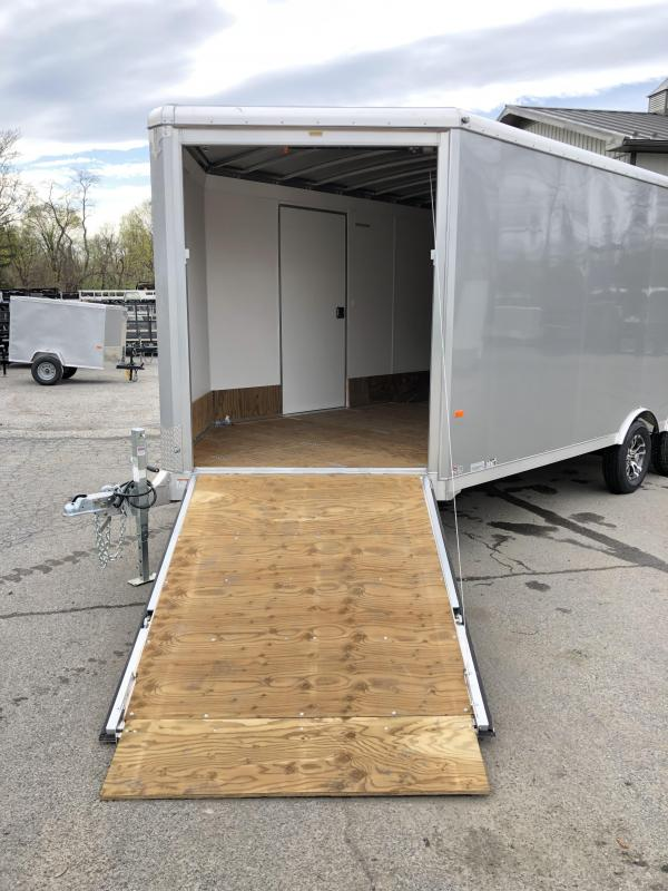 2020 NEO 8.5x20' NMS Aluminum Round Top Enclosed All Sport Car Hauler Trailer 7000# GVW NMS2085 * FINISHED WALLS * FRONT RAMP * ALUMINUM WHEELS