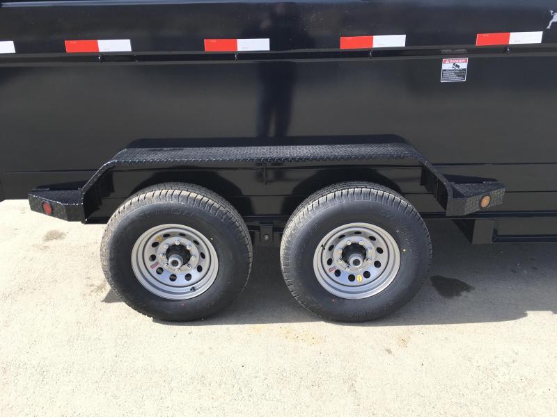NEW Ironbull 7x14' 3' HIGH SIDES Dump Trailer 14000# GVW RAMPS * TARP * SCISSOR * 2ND TOOLBOX * SPARE MT * CLEARANCE