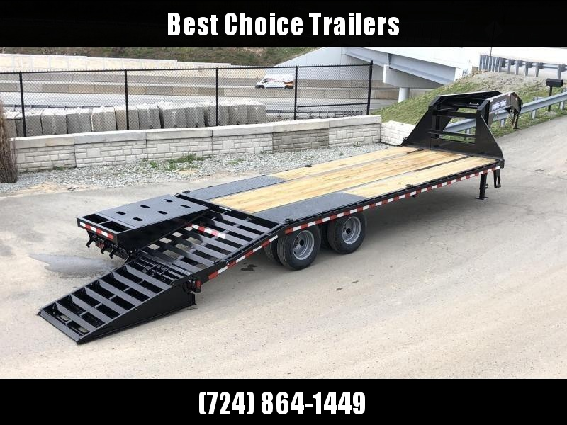 2020 Sure-Trac 102x20+5 Gooseneck Beavertail Deckover Trailer 22500# GVW * PIERCED FRAME * FULL WIDTH RAMPS