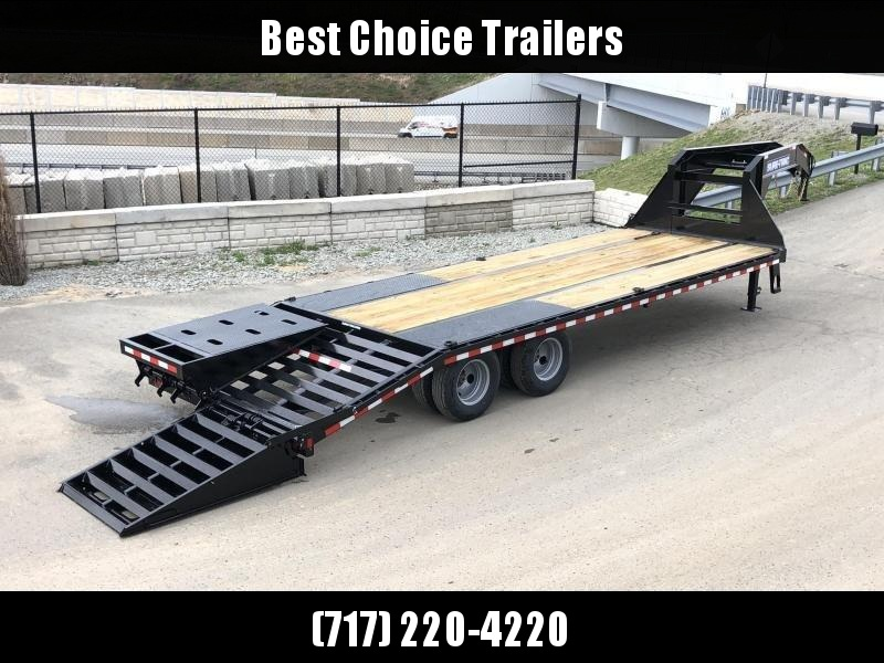 2020 Sure-Trac 102x20+5 Gooseneck Beavertail Deckover Trailer 22500# GVW * PIERCED FRAME * FULL WIDTH RAMPS