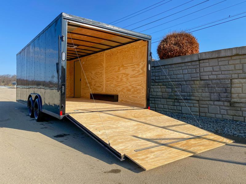 2018 Rock Solid 8.5x20' Enclosed Car Trailer 7000# GVW - BLACKOUT PACKAGE * SHIPPING DAMAGE