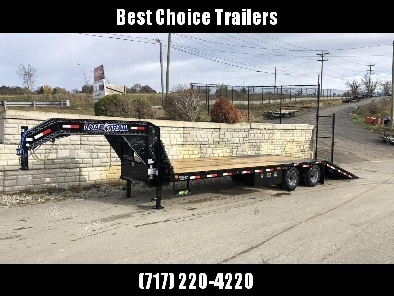 2020 Load Trail 102x32' Gooseneck Hydraulic Dovetail Deckover Trailer 22000# GVW * DUAL HYDRAULIC JACKS * DEXTER AXLES * HYDRAULIC DOVETAIL * HDSS SUSPENSION * CLEATS ON DOVETAIL * FRONT AND SIDE TOOLBOXES * PIERCED FRAME * PRIMER * CLEARANCE