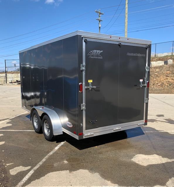 "USED 2017 ATC 7X14' Raven Enclosed Cargo Trailer 7000# * SCREWLESS * 6'6"" HEIGHT * RAMP"