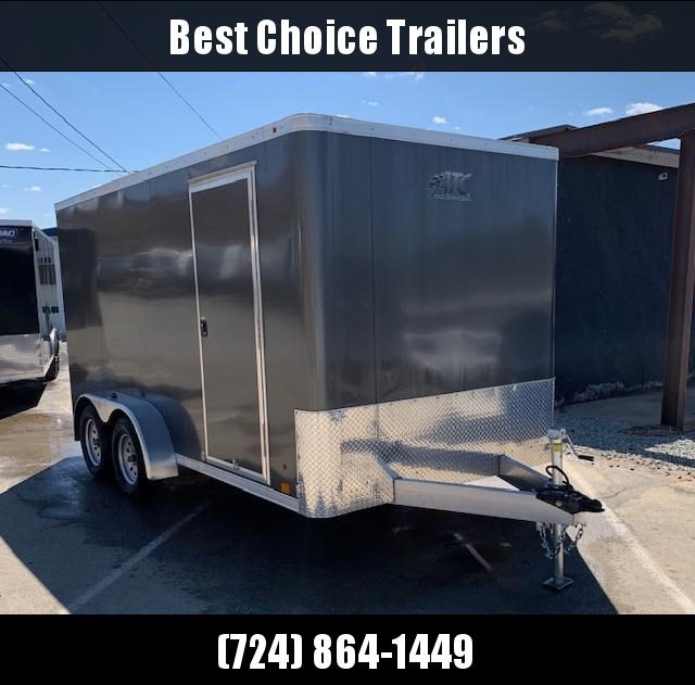 "USED 2017 ATC 7X14' Raven Enclosed Cargo Trailer 7000# * SCREWLESS * 6'6"" HEIGHT * RAMP"