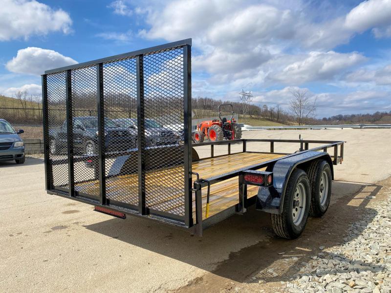 2020 AMO 76x12' Angle Iron Utility Landscape Trailer 7000# GVW