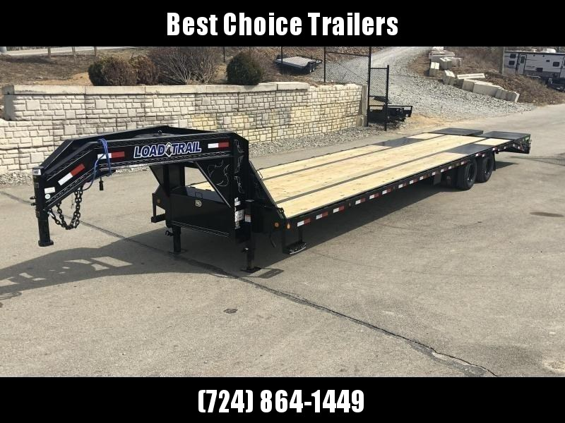 "2020 Load Trail 102x40' Gooseneck Beavertail Deckover Trailer 25990# GVW * HOTSHOT TRAILER * AIR RIDE * DEXTER 12K AXLES * EOH DISC BRAKES * LIFT AXLE * FULL WIDTH RAMPS * UNDER FRAME BRIDGE * TORQUE TUBE * 2-25K 2-SPEED JACKS * PRIMER * 12""/22# MAINFRAME"