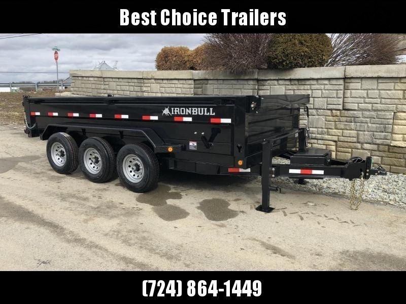 "2020 Ironbull 7x16' Dump Trailer 21000# GVW * 1PC 7GA FLOOR * DUAL JACKS  * TARP KIT * 5X20 SCISSOR HOIST * STACKED I-BEAM FRAME * 6"" TUBE BEDFRAME * 10GA WALLS W/ KEYWAY * COMBO GATE * UNDERBODY BED RUNNERS * DEXTER AXLES * 2-3-2 WARRANTY"