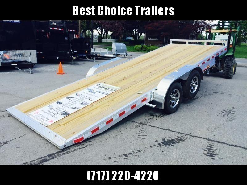 "2020 H&H 7x18' Aluminum Power Tilt Car Hauler Trailer 7000# GVW * POWER TILT * ALUMINUM TOOLBOX * 6"" TONGUE AND FRAME * REMOVABLE FENDERS * ALUMINUM WHEELS * DROP JACK"