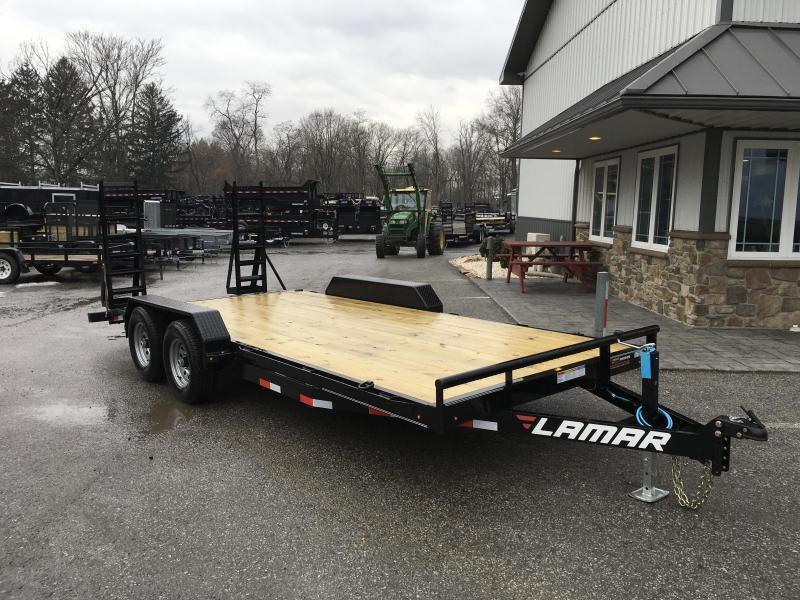 2019 Lamar 7x18' 9990# Lowboy Equipment Trailer * DROP LEG JACK * ADJUSTABLE COUPLER * CLEARANCE