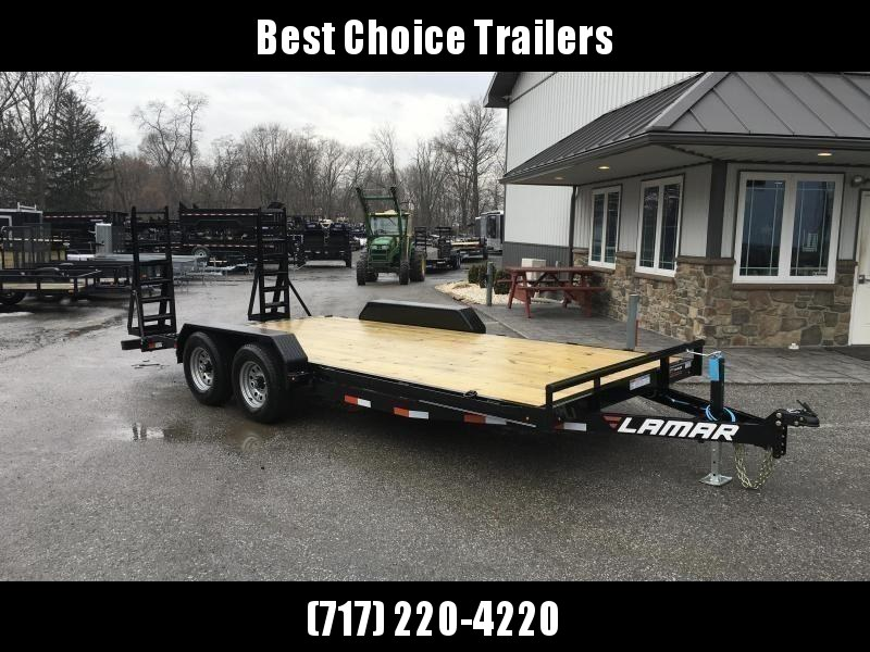 2019 Lamar 7x18' Equipment Trailer 9990# GVW * STAND UP RAMPS * CHARCOAL POWDERCOATING * 7K DROP LEG JACK * CHANNEL C/M * ADJUSTABLE COUPLER * RUBRAIL * CLEARANCE