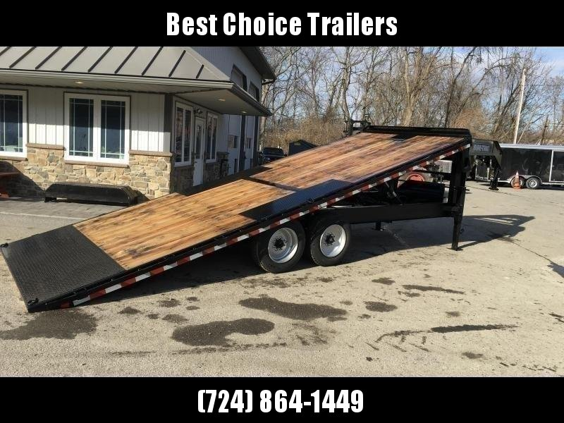 "2020 Sure-Trac 102x24' Gooseneck Power Tilt Deckover 17600# GVW * 8000# AXLES * 17.5"" 16-PLY TIRES * WINCH PLATE * OAK DECK * DUAL JACKS * 4X4X1/4"" TUBE BED RUNNERS * DUAL PISTON * 10"" I-BEAM * RUBRAIL/STAKE POCKETS/PIPE SPOOLS/8 D-RINGS * LOW LOAD ANGLE"