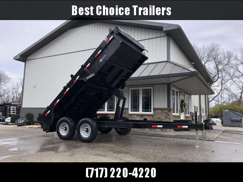 2020 Ironbull 7x14' Dump Trailer 14000# GVW * RAMPS * TARP * SCISSOR * I-BEAM FRAME * 3-WAY GATE