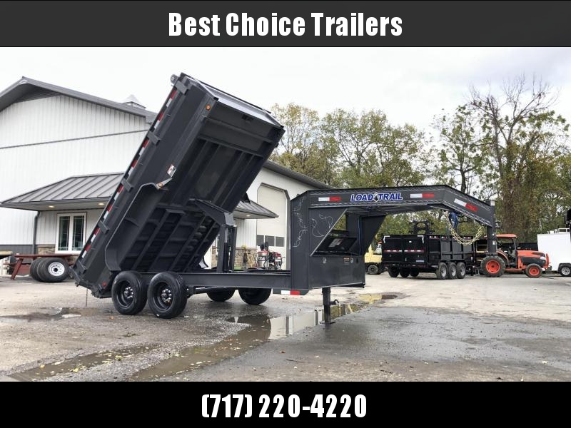 "2020 Load Trail 7x14' Gooseneck Dump Trailer 16000# GVW * GD8314082 * DEXTER 8000# AXLES * MAX FLARED BED * 17.5"" TIRE UPGRADE * 8"" I-BEAM FRAME * OIL BATH * 3-WAY GATE * TARP KIT * SCISSOR HOIST *"