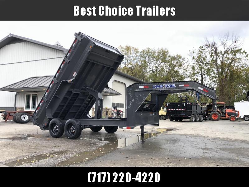 "2020 Load Trail 7x14' Gooseneck Dump Trailer 16000# GVW * GD8314082 * DEXTER 8000# AXLES * MAX FLARED BED * 17.5"" TIRE UPGRADE * 8"" I-BEAM FRAME * OIL BATH * 3-WAY GATE * TARP KIT * SCISSOR HOIST *"