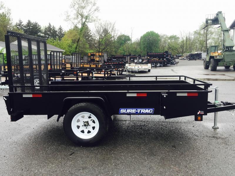 2020 Sure-Trac 5x10' Steel High Side Landscape Utility Trailer 2990# GVW