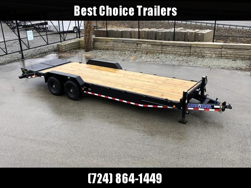 """2020 Load Trail 7x24' Equipment Trailer 14000# GVW * CH8324072 * 8"""" TONGUE & FRAME * DUAL JACKS * FULL WIDTH MAX RAMPS * D-RINGS * COLD WEATHER * DEXTER'S * 2-3-2 * POWDER PRIMER"""